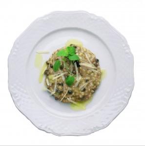 1698-Risotto con ragù di melanzane, capperi e pecorino
