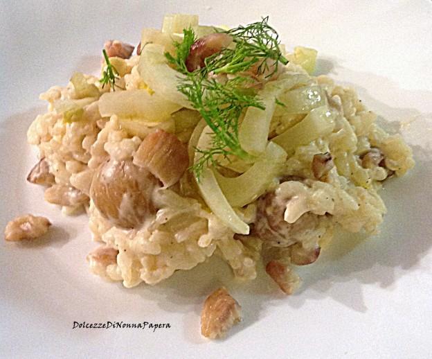 risotto castagne e finocchi