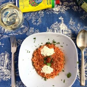 Riso Aroma con salsa di pomodor, harissa e 'nduja calabrese