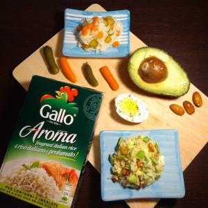 Due varianti dell'insalata di riso, fresche e leggere