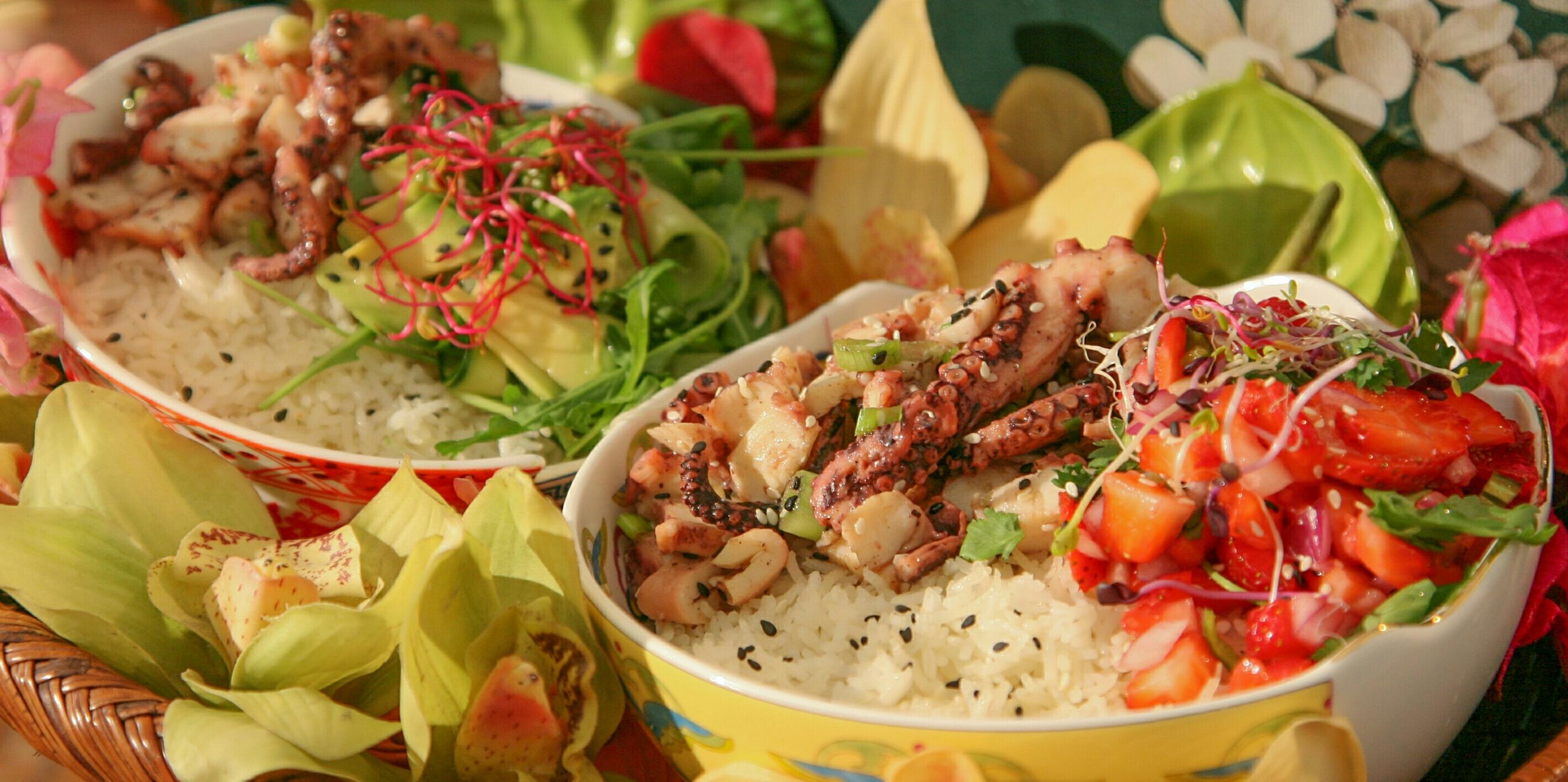 Ricetta esotica con riso e polipo stufato