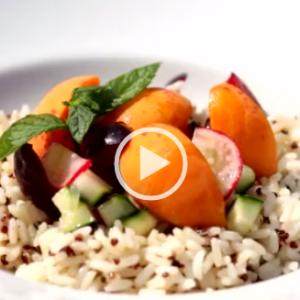 Insalata di riso e quinoa Expresso con frutta e verdura